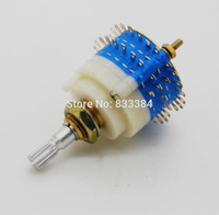 Wholesale New pc Pole Step Rotary Switch Attenuator Volume Control Pot Potentiometer DIY