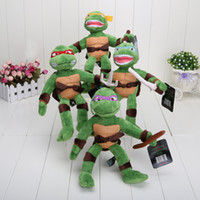 brand toys - 20pcs inches Brand High quality TMNT Teenage Mutant Ninja Turtles Plush Toys Classic dolls for boy Birthday gifts christmas gifts