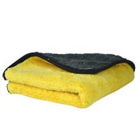 Wholesale 1 pc gsm cmx38cm Super Thick Plush Microfiber Car Cleaning Cloths Car Care Microfibre Wax Polishing Detailing Towels
