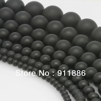 Wholesale mm mm mm mm mm Black Matte Frosted Onyx Agate Loose Stone Spacer Finding Beads For Jewelry Making