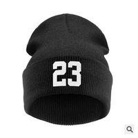 beenie cap - knitted hat number winter beanie skull cap for women men black touca gorro beenie
