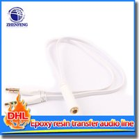 audio combo - Audio Line in Female To Male Headphone Transducer Audio Cable Combo Adapter Audio Splitter For Headset Microphone