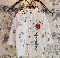 japanese fashion clothing - 2015 Spring Boys Girls Shirts Cartoon Comic Long Sleeve Shirt Japanese Style Cotton Shirt Boy Korean Fashion Children Clothing White K3349