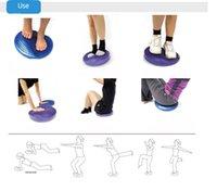 Wholesale Fitness Stability Balance Disc Ball Massage Cushion Air Inflatable Cushion Board Ankle Knee Rehab Yoga Good Yoga Supplies