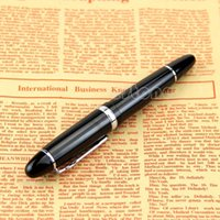 Wholesale Jinhao Black And Silver M Nib Fountain Pen Thick
