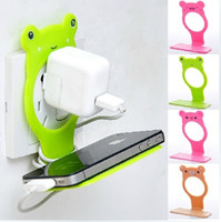 Wholesale Creative Cute Cartoon Folding Recharge Stand Stents battery charger Charging Dock Mount cell Phone Holder for iphone Samsung Mobile