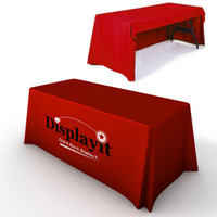 Wholesale 6 Custom Print Trade Show Table Skirts Open Back Custom Printed Tableclothes Table cover with