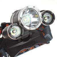 Wholesale 50pcs Boruit JR CREE XML T6 R5 Mode Hiking LED Headlamp Headlight Lumens With wall Charger