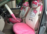 pink car seat covers - 18 Piece Pink Hello Kitty Car Seat Covers