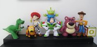 Wholesale New New Pixar Toy Story Action Figure Toys Woody Buzz Jessie Rex Alien Slinky Dog Lotso PVC Figure Toy EMS shipping