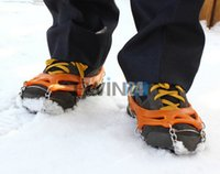 anti skid shoe covers - Snow Studded Non slip Crampon Anti skid Climbing Outdoor Activities Shoe Covers New and Hot Selling