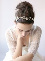 beaded headwear - Ravishing Beaded gold blossom hair vine Bridal Ribbon Headband Bridal Headwear Wedding Headpiece hair accessories