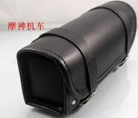 Wholesale 2014 New Black Car Motorcycle Saddle Bags Cruiser Tool Bag Luggage Handle Bar Bag Tail Bags CM