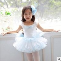 children dance costumes - Lace Girls ballet leotards children kids dance costume girls costumes Ballet tutu dress girl dancewear Kid short party dresses