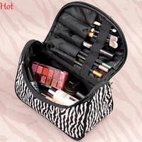 zebra print - Professional Cosmetic Case Bag Zebra Stripes Printed Makeup Bags Large Capacity Portable Women Cosmetic Bags Storage Travel Bags SV005497