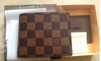 Wholesale male suit folder short design wallet classic luxury man bag card holder The man s wallet