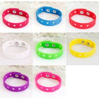 Wholesale Kid silicone bracelet Jelly Metal snaps adjustable bangle cuff cm band match shoe buckle children jewelry