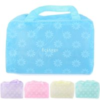 Wholesale 10pcs Travel Clear Plastic Zipper Cosmetic Make Up Bags Toiletry Wash Punch zip Bag bx108 Freeshipping