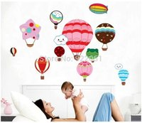 Graphic vinyl air free ballon - DM57 Removable wall sticker hot air ballon for home kid room wall decal cm