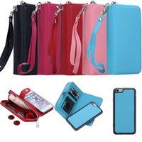 Cheap Flip Magnetic 2 in 1 Zip Zipper wallet Best Coin Purse Iwallet Credit Card cover