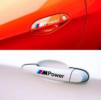 Wholesale set MPower handdoor car Sticker car styling Badge car accessories For BMW M3 m5 X1 X3 X5 X6 E36 E39 E46 E30 E60 E92 F30