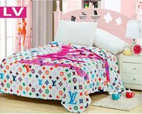 Cheap Cartoon brand LV blanket on the bed warm blankets, 3 size high quality, free shipping