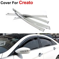 awning window styles - 4pcs Awnings Shelters Window Visor For KIA K3 Cerato Stickers Car Styling Accessories Guard Rain Shield