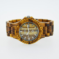 bangles collection - 2015 Wood Band Natural Wood Wooden Watch For Men Zebra Wood Wristwatch Wooden Watch Date Bracelet Bangle Quartz Collection