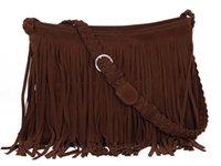 Shoulder Bags Women Plain bolsa feminina hot womens messenger bags vintage leather handbags designer tassel bag cross body shoulder bag hobos bolsa franja