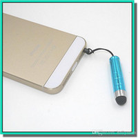 Wholesale colorful Capacitive mini Stylus touch Screen Pen With iphone6 Colorful Universal Touch Screen Pen Stylus Pen For ipad iphone Samsung S6