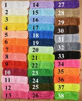 1.5 crochet headbands - 38 Colors inch Children Hair Band Baby Girls Favorite Hair Accessories Girls Headband Children Crochet BJ D5925
