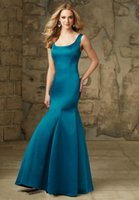 beautiful women clothes - 2015 Mother Of the Bride Dresses Mermaid Scoop Neck Backless Bow Floor Length Satin Women Clothes Ruched Beautiful Mother Gowns