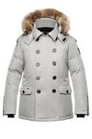 Cheap Warm coats for sale Nobis Kato Men Peacoat with magnetic closures Discount Nobis Kato Parka Mens Down Jacket on line sale