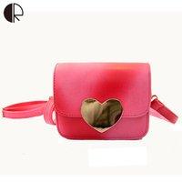 Women bags ramps - BS406 Fashion Women Lovely Heart Vintage Brand Design Mini Lady Trunk Gradient Ramp Flap Messenger Bags