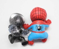 Blue Black Red cute doll - 2015 New Fashion Cute Car Interior Accessories Red Blue Black Moive Spiderman Doll Car Sucker Hanging Ornaments S0140266