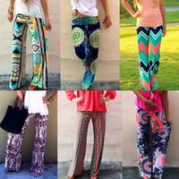 palazzo pants - Summer Fashion Women Print Pants Casual High Waist Flare Wide Leg Long Pants Palazzo Trousers Plus Size Floral Classic Exuma Pant