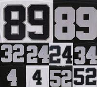 Wholesale Raiders Mens Jerseys Derek Carr Khalil Mack Amari Cooper Charles Woodson Name Number Stitched Black White