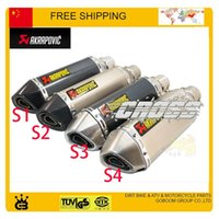 Wholesale POCKET BIKE street bike CBR TTR YZF crf klx akrapovic exhuast pipe muffler motorcycle dirt bike pit bike accessories order lt no track