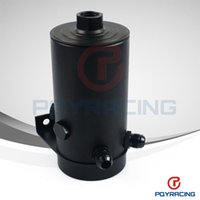Wholesale PQY STORE UNIVERSAL ALUMINIUM ANODIZE BLACK OIL TANK WITH AN PORT AN FLARE AND FUEL TANK HIGH QUALITY PQY SLYT01