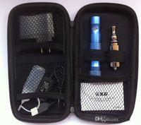 Cheap Wholesale X6 KTS Electronic Cigarette Kits V2 Atomizer 1300mah X6 Battery e cigarette Kit in Zipper Carrying Case All Colors