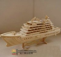 arrival bus - A0022 New Arrival Promotion Freeshipping Assembly Wooden Ship model Puzzle Wood Wool Handmade Futhermore Yacht Toy