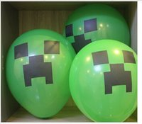 Wholesale Christmas gift Minecraft Creeper Balloon Minecraft Party Kids Birthday Party Decor Toy Gift H460