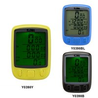 Wholesale Cycling Computer Bicycle Speedometer Odometer LCD Backlight Backlit Waterproof Multifunction Bike Computer high quality