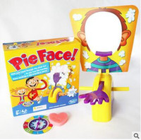 Wholesale 300pcs CCA3014 Korea Running Man Pie Face Game Pie Face Cream On Her Face Hit The Send Machine Paternity Toy Rocket Catapult Game Consoles