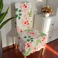 Wholesale 2015 Leaves Cotton Fabric Chair Covers dining Sets siamese Soft Pack Covers sleeve Covers for Back of Chairs Can Be Customized