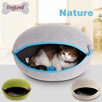 Wholesale 5pcs per Nature Felt Dog Pet Kennel House Cat Cave colors pet cave for dog and cat
