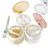 Wholesale Multi functional seasoning box glass seasoning tank high quality seasoning box