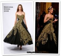 amazing girls dresses - Gossip Girl Fashion Amazing Shiny Blair Waldorf s Prom Dress Gold Embroidery Strapless Backless Ball Gown Dresses Party Evening Wear