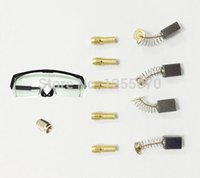Wholesale DREMEL Drill Lock Nut A Grade Carbon Brush Copper Chuck Electric Drill Anti throw Goggles Rotary Dremel Accessories order lt no