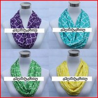 Wholesale 9 Colors Quatrefoil Chevron Infinity Scarf Chevron Scarf For Women Children Circle Loop Scarf Pieces